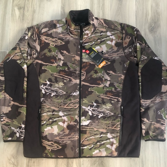 954cb37804cdd Under Armour Jackets & Coats | Storm Sz Xxl Camo Lined Zip Up Jacket ...
